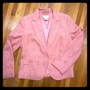 10P Coral tweed Ann Taylor LOFT blazer